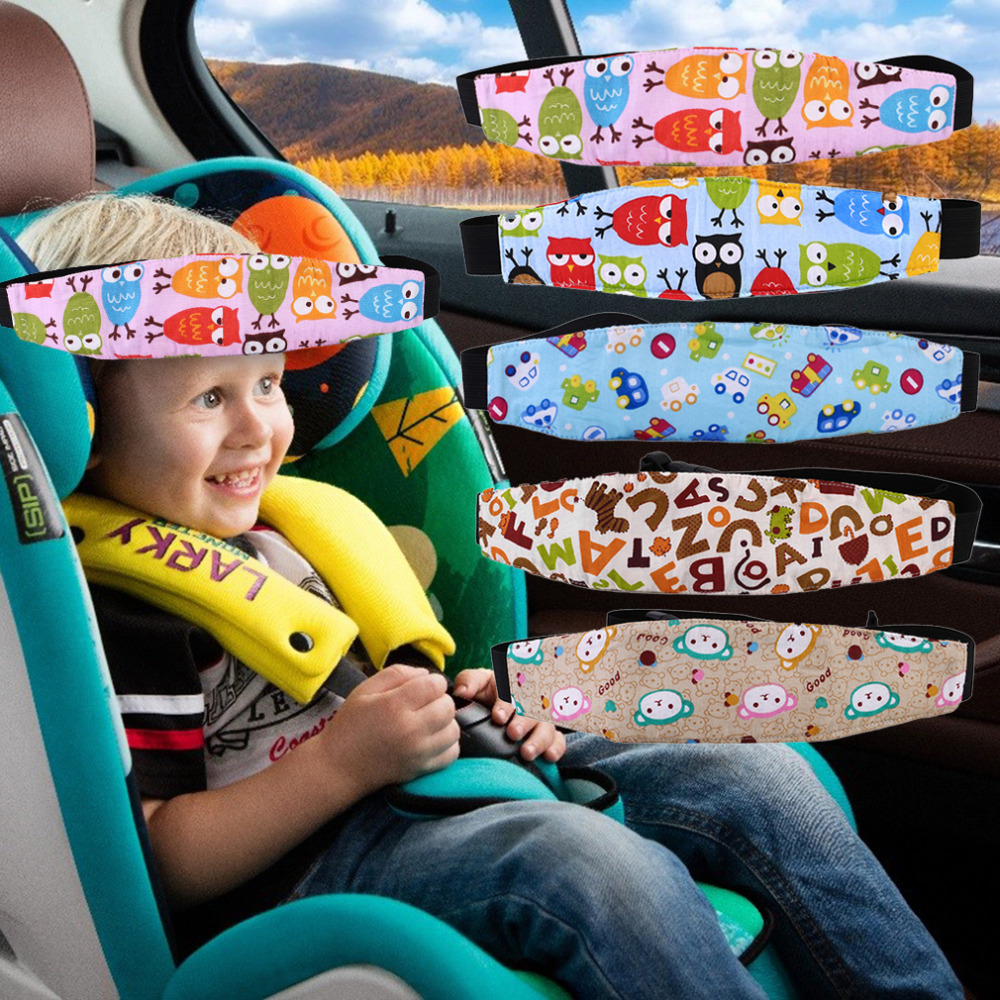 Creative Design Auto Car Vehicle Seat Headrest Kids Children Outdoor Short-Term Travel Sleeping Head Support Pad Pillow Dropship image