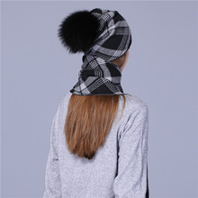 Xthree 2017 new hat scarf set Thick Double-deck beanie Warm winter wool Knitted scarf hat set for girl women
