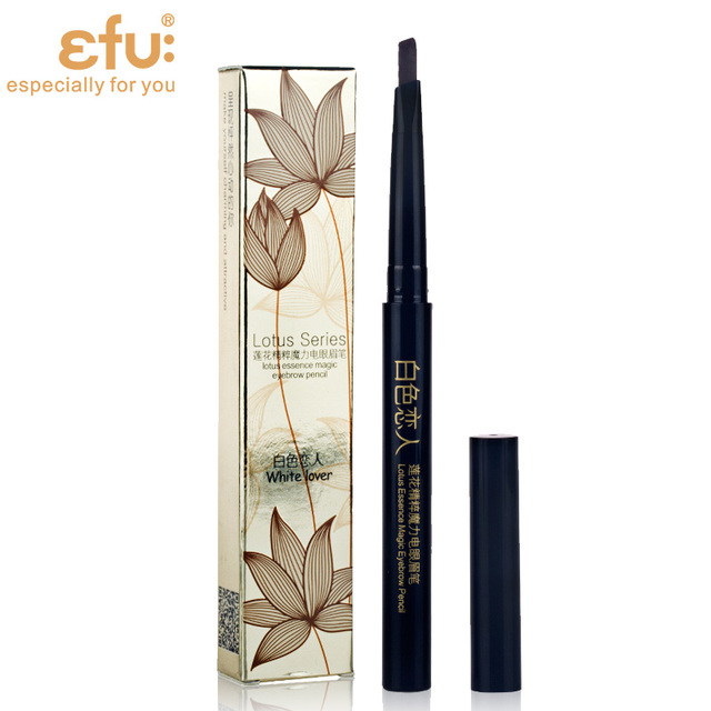 5 Colors 24 Hours Long-lasting Eyebrow Pencil Soft And Smooth Fashion Eye 0.4g Lotus Series Makeup Brand EFU #7046-7050 4