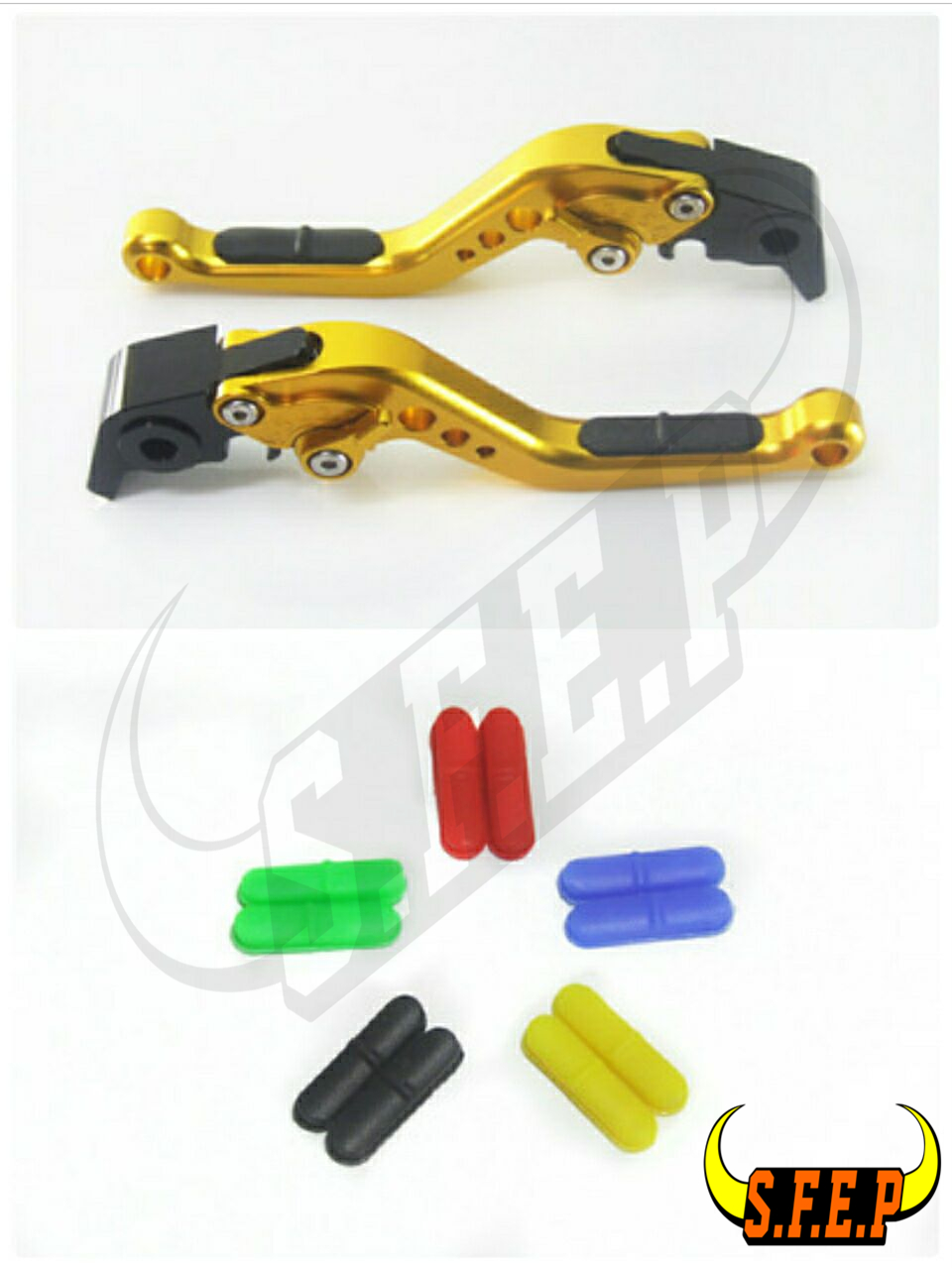 CNC Adjustable Motorcycle Brake and Clutch Levers with Anti-Slip For Honda Black Spirit 2014-2016