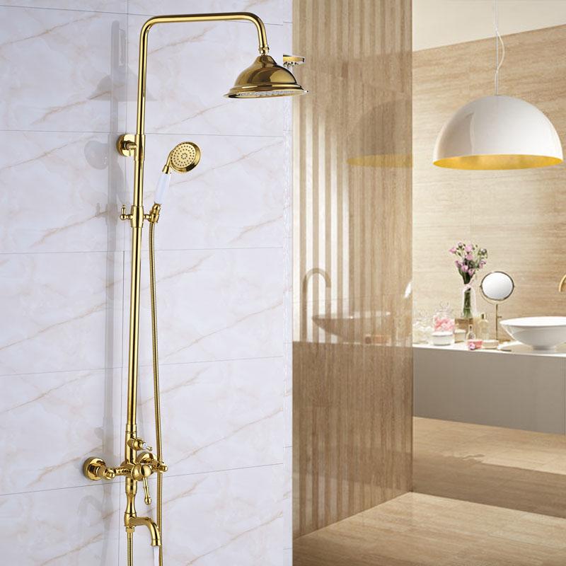 wall mount outdoor shower kits plumbing european style golden rain 8