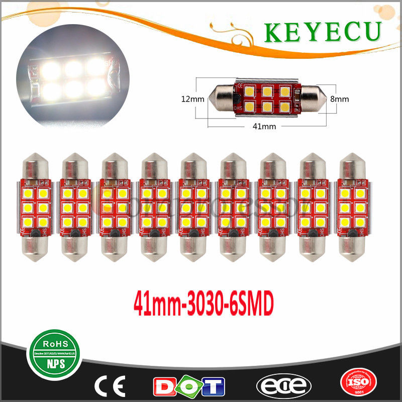 Keyecu Ultra Bright 41MM Universal 3030 6SMD Led Dome Reading Door Festoon lights Anchor Lights, Stern Lights, Masthead Lights
