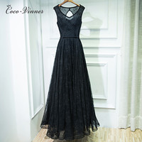 C V Evening Dress 2017 Fashion New Sexy Lace Women One Piece Formal Dresses Plus Size
