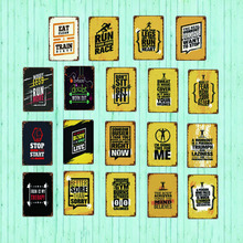 Run Your Own Race Family Rules Metal Tin Sign Vintage Plates For Wall Pub Home Art Retro Bar Decoration SA-4767