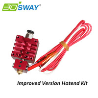 3DSWAY Improved Version E3D All Metal Hotend Kit With Thermistor And Heater Red Color 0 4mm