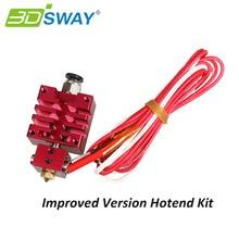 3 DSWAY Version Améliorée Hotend Kit avec Thermistance et Chauffe-Rouge Couleur 0.4mm/1.75mm Buse Unique pour 3D Imprimante Pièces