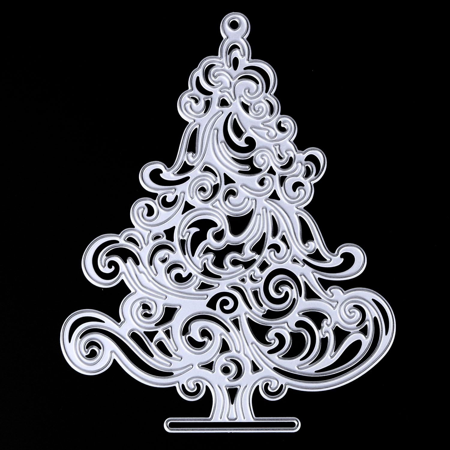 Metal Carbon Steel Christmas Tree Embossing Cutting Dies Stencils ...