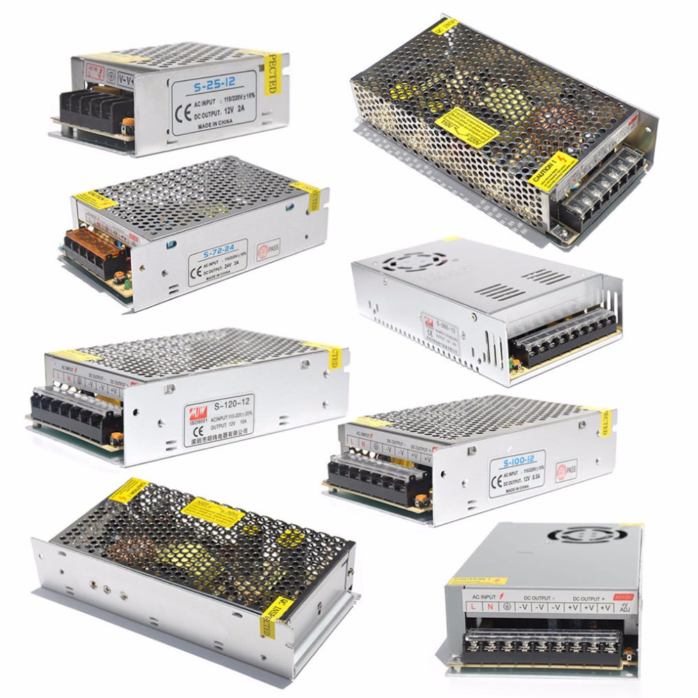 AC 110//220V TO DC 12V 20A Power Supply Adapter Driver Transformer For LED Strip