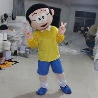 Doraemon Nobita Mascot Costume Nobi Boy Cartoon Character Cosplay Mascot Fancy Carnival Character Suit Birthday Halloween Gift
