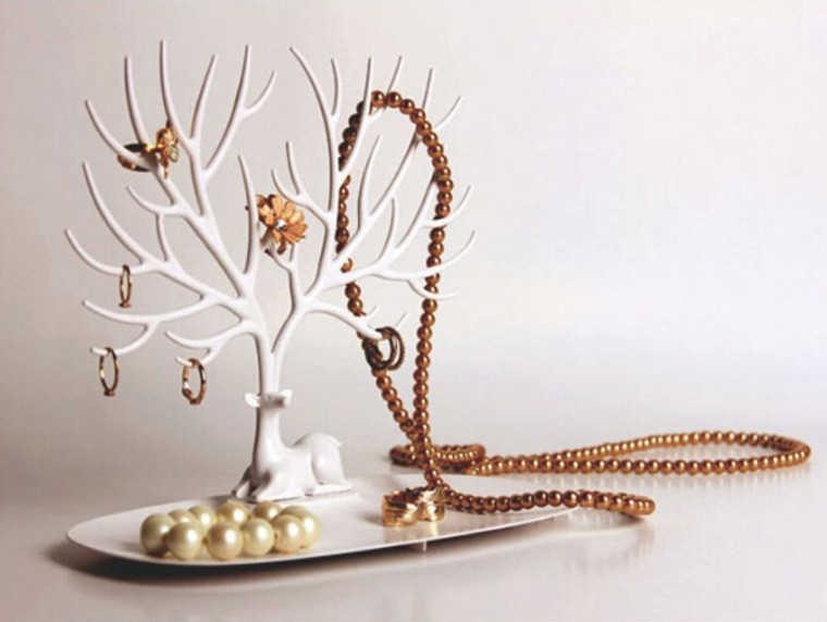 1PC Tree Branch Shape Key Storage Rack Jewelry Organizer Plastic Storage Shelving Hanger ...