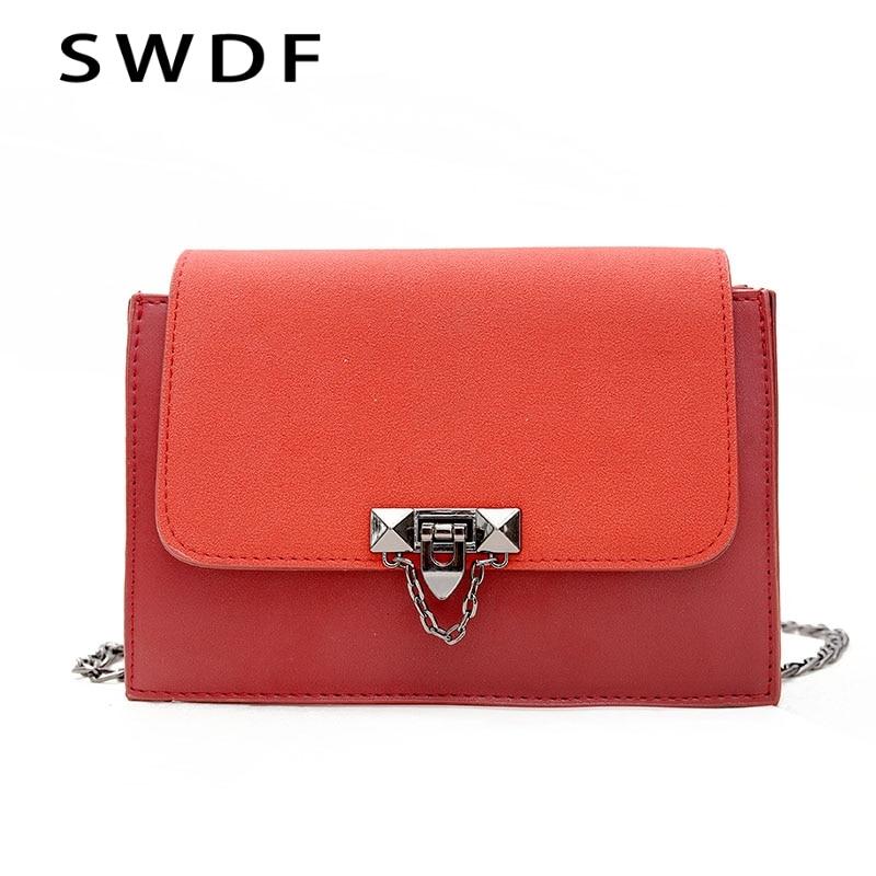 SWDF New Women Female Chains Crossbody Bags Lady Flap Designer Shoulder Bag Ladies Luxury Handbag SAC A Main Bolsa Clutches