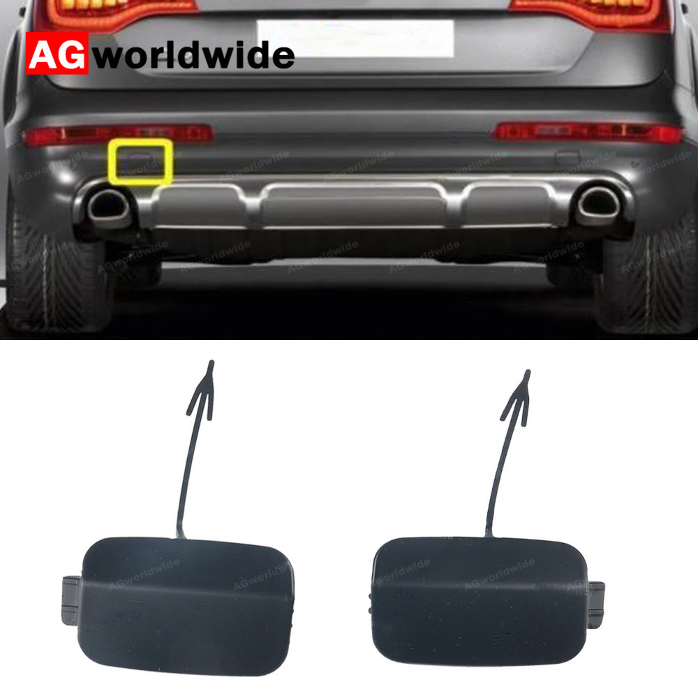 BMW E70 X5 2011-2013 Rear Tow Hook Cover Set Primered GENUINE 51127271815 NEW
