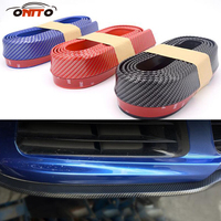 Styling Mouldings 250cm auto bumper carbon fiber Rubber protection Anti collision car strips for bmw benz audi toyota honda