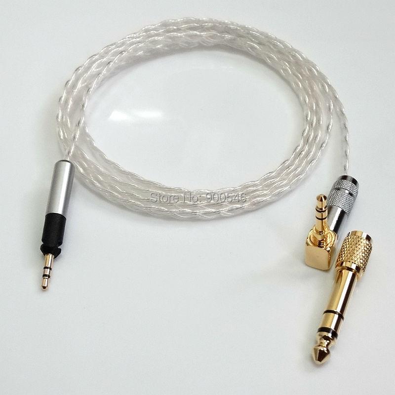 1,2 m 4ft L-tüüpi pistik 6core 4N OCC hõbetatud kõrvaklappide - Kaasaskantav audio ja video - Foto 2