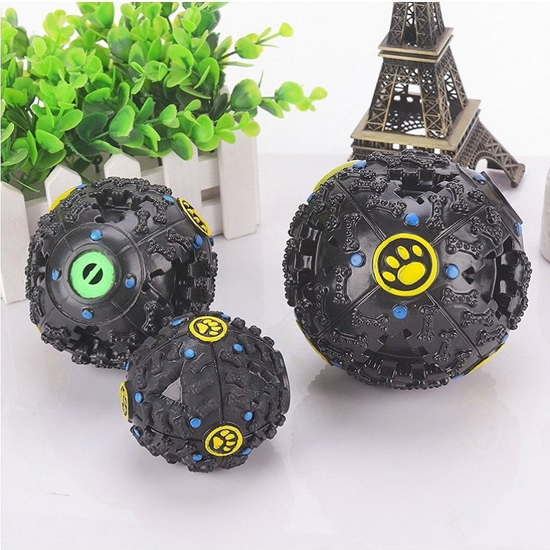 High-quality Creative Interaction Leaking food Improve Intelligence teeth device Oxyphylla Auto Feed Dog Sound Ball Toys Pets