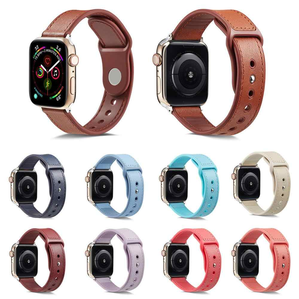Hasp Band For Apple Watch 38mm 42mm 40mm 44mm Bracelet Leather/TPU Soft For Apple iWatch Strap Series 1 2 3 4 Watchband 10Colors