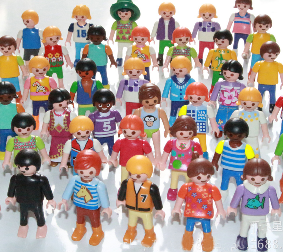 New 10pcs Playmobil Figures Toys Set 3cm 5cm Playmobil Police Pirate Princess Horse Action Figurines Lot Gifts for Kids 12pcs set children kids toys gift mini figures toys little pet animal cat dog lps action figures