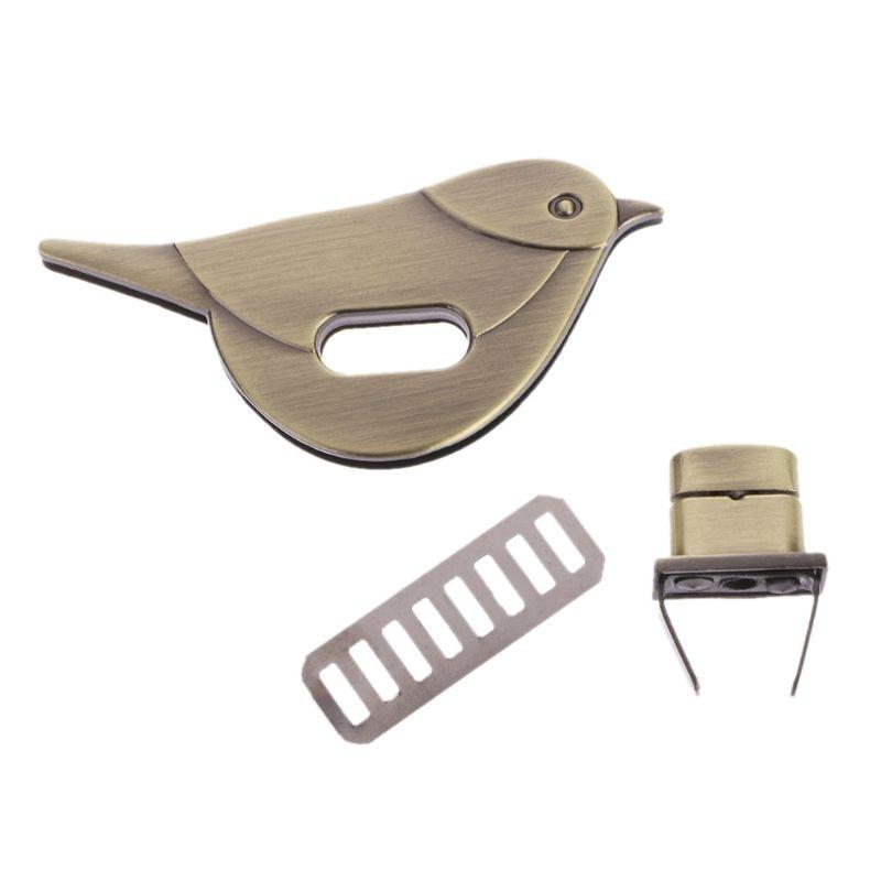 4 Colors 1 Pc Bird Shape Clasp Turn Lock Twist Locks Metal Hardware For DIY Handbag Bag Purse Buckle Accessories Fashion New