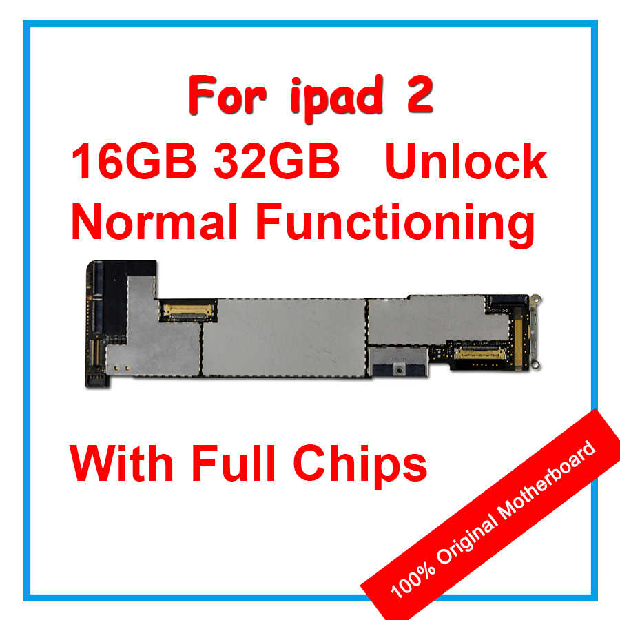 medium resolution of 16gb 32gb 100 original motherboard for ipad 2 unlocked mainboard ios system installed logic