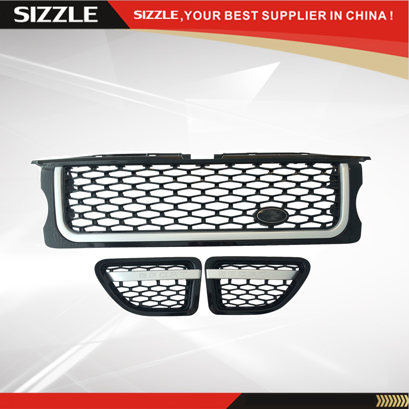 ABS Plastic Black Car Fender Side Air Vent Front Grille For Range Rover Sport 2005 2006 2007 2008 2009 auto side air vent fender decoration sticker cover hole intake grille duct flow