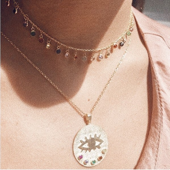 2019 New Sparking Micro Pave Tear Drop Chocker Cz Dots Colours Charms Link Chain Thin Cz Stone Pendant Necklace Women Jewelry