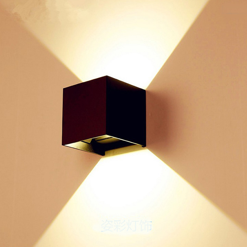 Ship From Ru Cube Cob Led Wall Lights Sconce Indoor