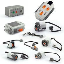 2019 New 1pcs Technic Power Functions Parts Motor Train LED Light Remote Receiver Switch 8879 20053 20076 88004