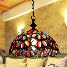 European Retro Chandelier Creative Personality Restaurant Living Room Chandelier Bar Tiffany Chandelier