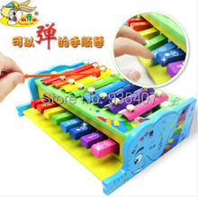 Young children's musical toys Sidel multifunctional wooden hand knock piano baby can play eight sound early childhood educationa