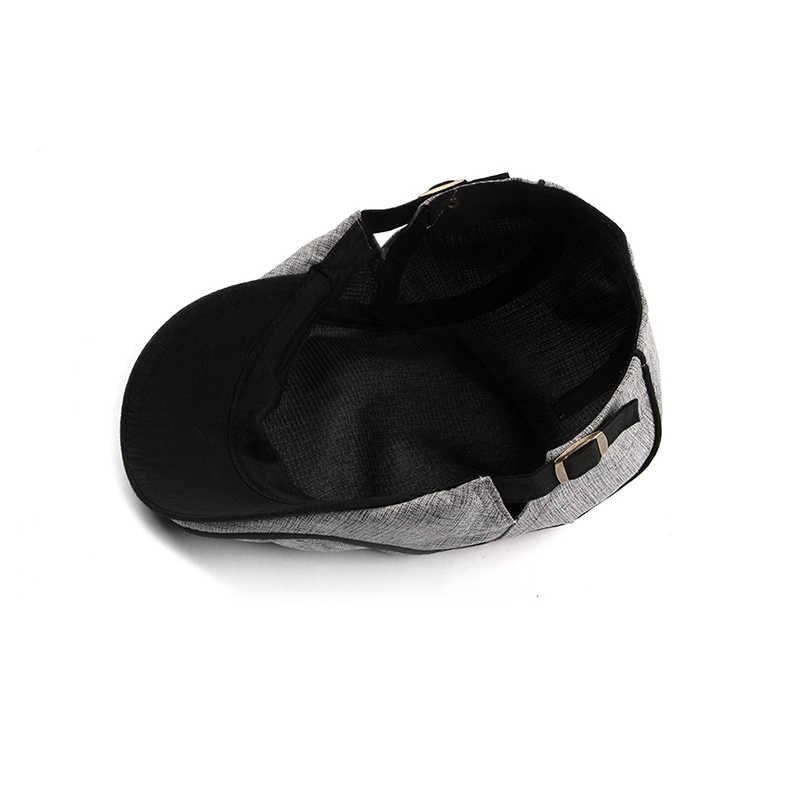 Fashion Musim Panas Baret Topi untuk Pria Wanita Kapas Visor Sun Hat Outdoor Pria Datar Topi Disesuaikan Baret Casquette Boina Topi