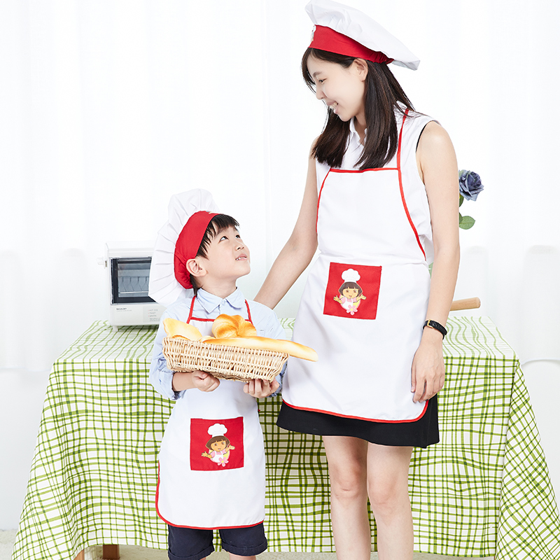 kids costume sets chef hat and apron kit children 39 s early education adult children kitchen apron. Black Bedroom Furniture Sets. Home Design Ideas