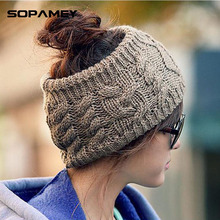 2017 Vogue Brand No top Skullies Beanies Winter Warm Hat Solid Braided Soft Knitx Men And Women Hedging Cap Bonnet Chapeau