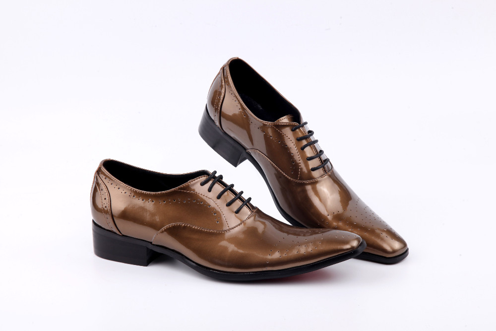 Spring 2018 Carved Mens Handmade brown Patent leather Man Shoes Lace Up Oxford Men Dress Shoes Men's Evening Party Wedding Shoes цены онлайн