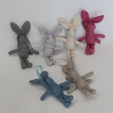 1PCS Cute Small Rabbit Plush Toys Doll Mini Stuffed Toy For Girl Keychain Bag Hanging 17*4CM Wedding Gift CHRISTMAS