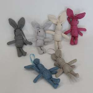 Doll Small Rabbit Stuffed-Toy Plush-Toys CHRISTMAS Girl Mini Cute for Keychain-Bag 17--4cm