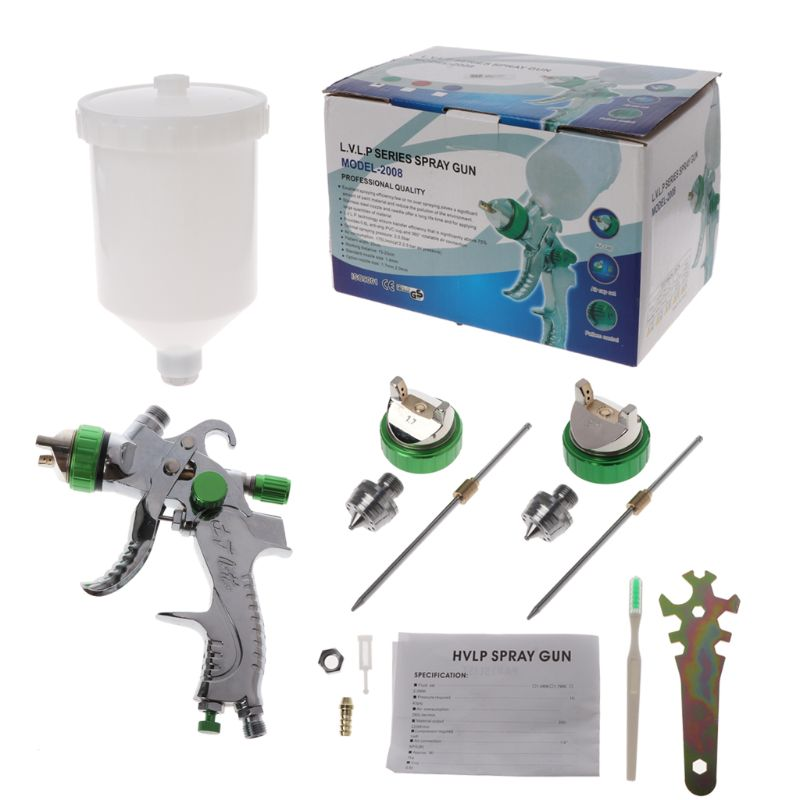 New 1.4/1.7/2.0mm G2008 Nozzles HVLP Spray Gun Set Sprinkling Paint Can Professional Atomizer For Car RepRepairment Coating Qyh