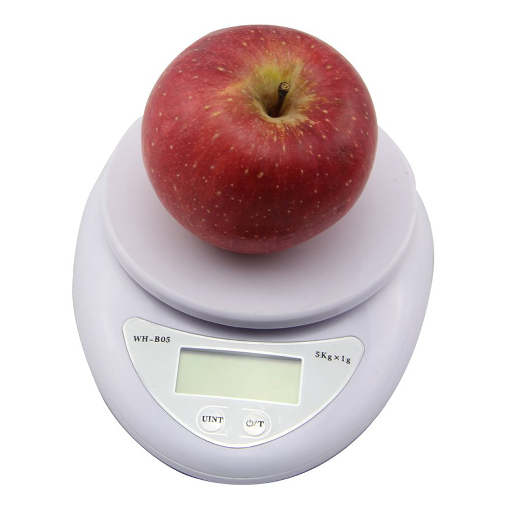 TFBC Digital Electronic Kitchen Food LCD Postal Weighing Scale Balance G,LB,OZ(White)