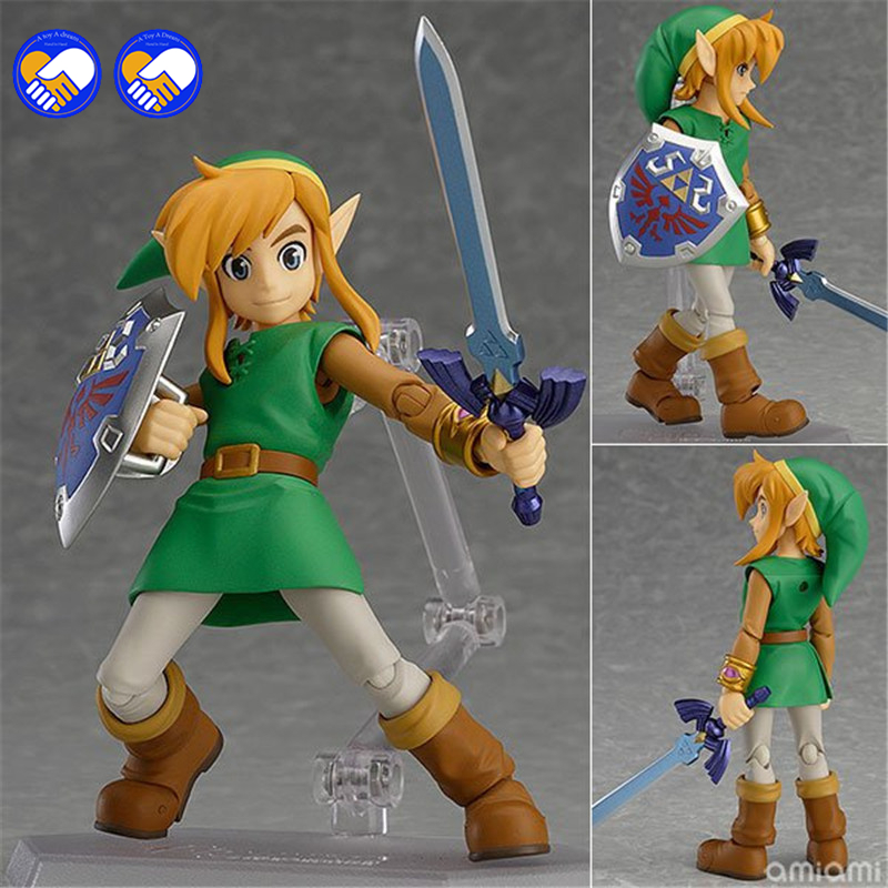 A toy A dream Legend of Zelda 2: A Link Between Worlds Link Figma 284 PVC Action Figure Collectible Model Kids Toys Doll 14CM anime the legend of zelda 2 a link between worlds link figma 284 pvc action figure collectible model kids toys doll 10 5cm