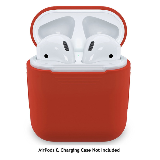 new concept f12c4 03858 US $7.89 |PodSkinz AirPods Case Protective Silicone Cover and Skin for  Apple Airpods Charging Case (Lava Red) -in Earphone Accessories from  Consumer ...