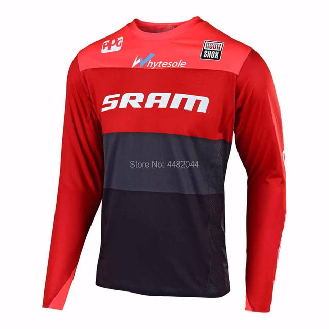 2019motocross  Jeresy Downhill Jersey MTB Offroad long motorcycle long moto Racing Cycling Jersey hombre longT-shirt