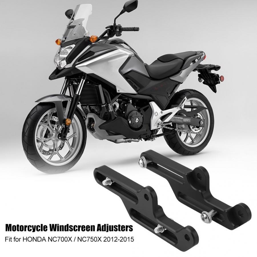 Black Motorcycle Windscreen Adjusters Windshield Bracket for NC750X 2016-2019,CNC