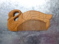 100% pure natural wild rare cedar wood carving The goose care comb