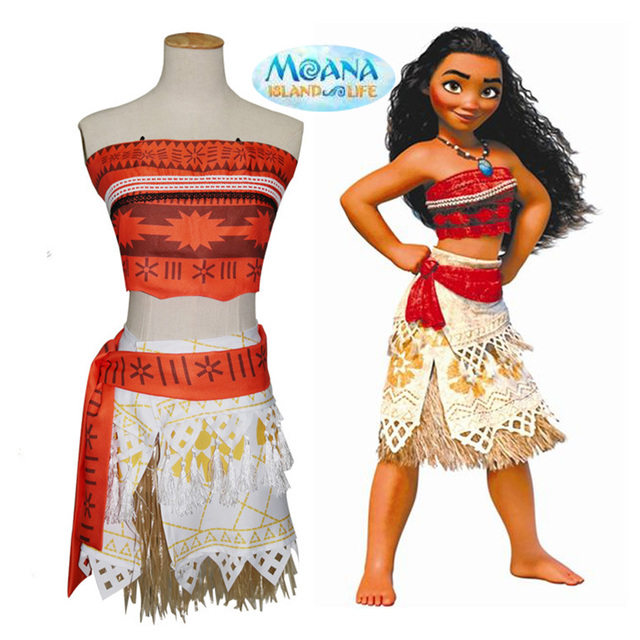 Real Anime Cosplay Princess Moana Costume Kids Party Halloween Costume for Children Girls Party Birthday Dress  sc 1 st  AliExpress.com & Real Anime Cosplay Princess Moana Costume Kids Party Halloween ...