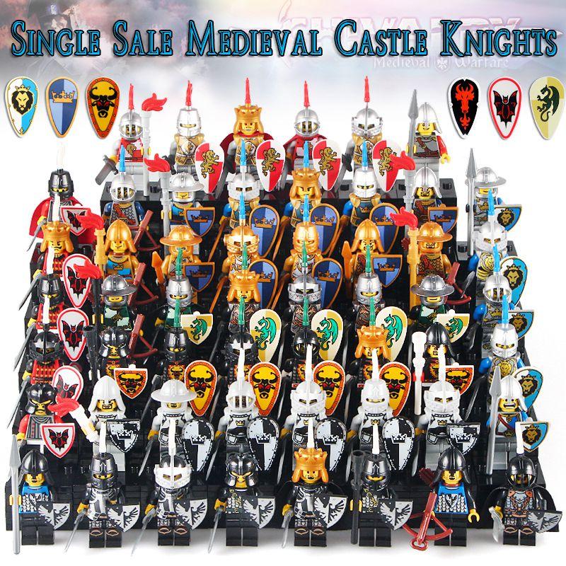 White Castle 2017: 50pcs/lot 2017 Latest Medieval Castle White Crown Shadow