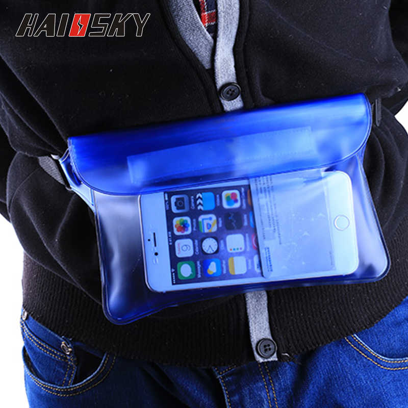 Big Waterproof Case Waist Bag Cover For iPhone X XS Max 6 6s 7 8 Plus Samsung S8 S9 Huawei P20 Pro Honor 10 Underwater Surfing