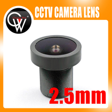 New 5MP Lens 2.5mm lens 2.5mm FISH EYE Wide Angle Fix Board FOR CCTV Security HD IP Camera