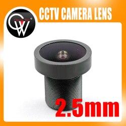 Nowy 5MP obiektyw 2.5mm obiektyw 2.5mm rybie oko szeroki kąt naprawić pokładzie dla kamery CCTV bezpieczeństwa aparat IP HD