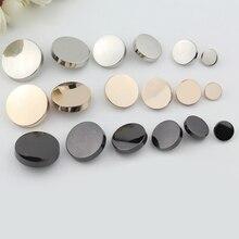 1 шт. плоские металлические пуговицы, аксессуары для шитья кнопка для скрапбукинга рубашка одежда кнопка черный серебряный золотой одежда декоративные пуговицы