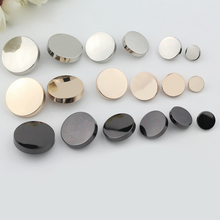 1pcs Flat Top Metal Button Sewing Accessories Scrapbook Shirt Clothes Black Silver Gold Decorative