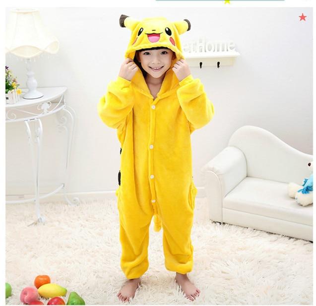 Kanak-kanak Kigurumi Pokemon Pikachu Cosplay Kostum Kanak-kanak - Kostum karnival - Foto 3